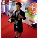 ด.ช.ก้องภพ ปิยะกมลานนท์ ป.6/7  ได้รับรางวัลเหรียญทองและถ้วยรางวัล The highest score of both part.